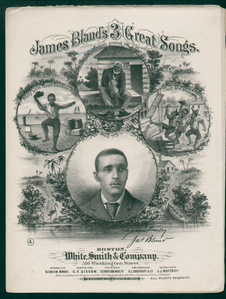 1879 James Blands 3 Great Songs