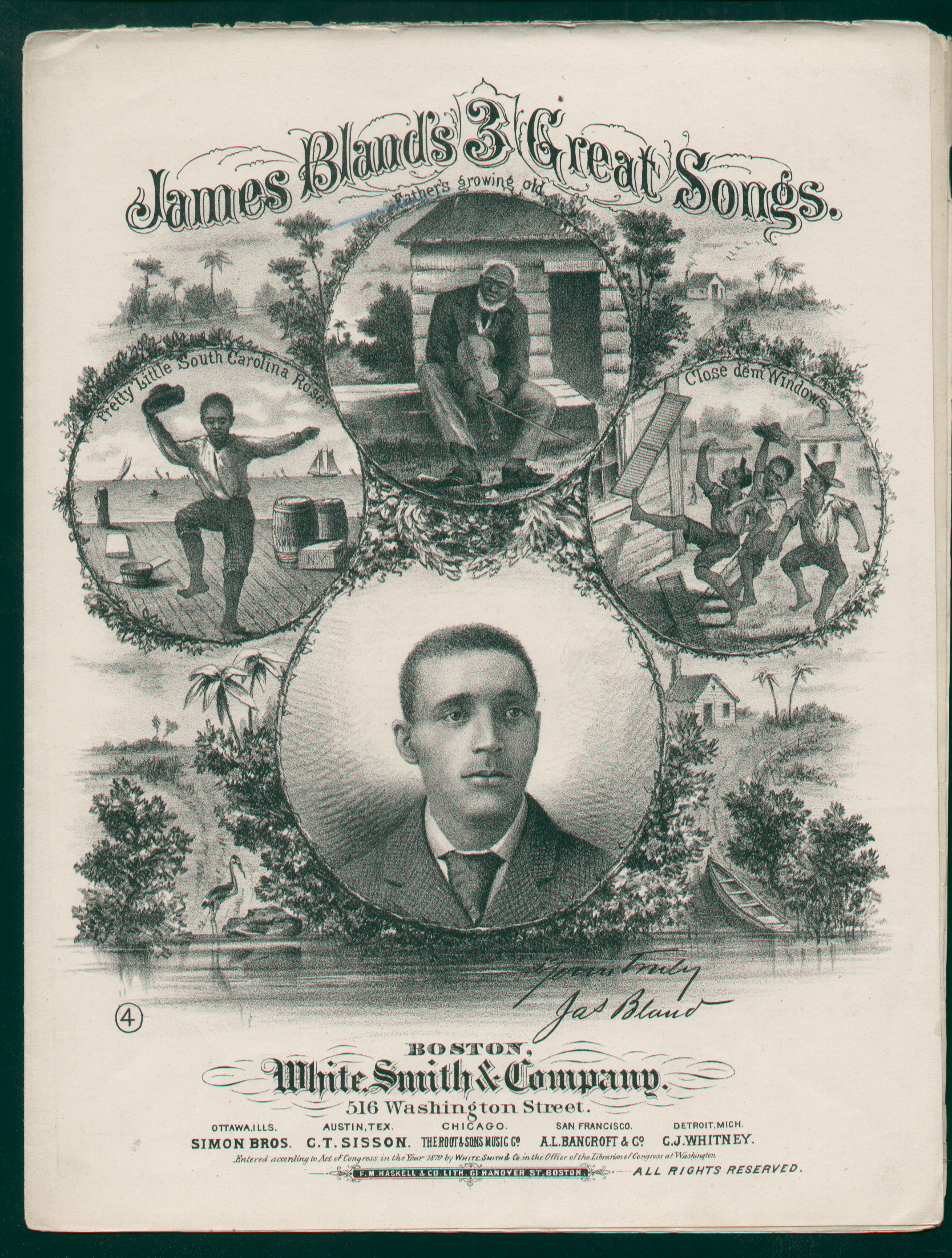 1879 James Blands 3 Great Songs