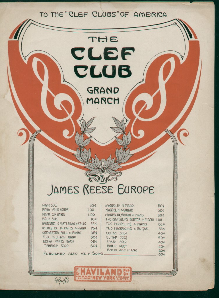 1912 The Clef Club March 100 Volor