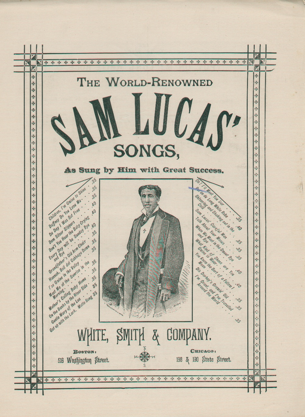 Sam Lucas Songs